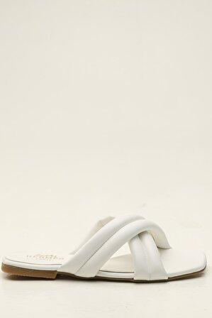 S1441 Beyaz Kadın Terlik