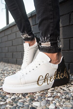 Chekich Ch254 Bt Erkek Ayakkabı 426 Beyaz-siyah Chekıch
