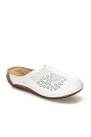 CARLA VERDE Kadın Beyaz Sabo Topuklu Terlik 151390