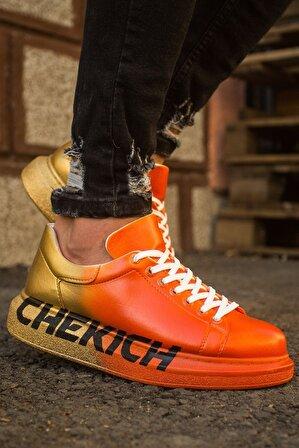 Chekich Ch254 Bt Erkek Ayakkabı 433 Turuncu / Sarı Chekıch