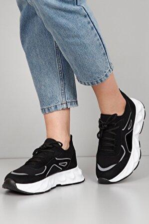G.Ö.N Siyah Süet Kadın Sneaker Dyza53535850
