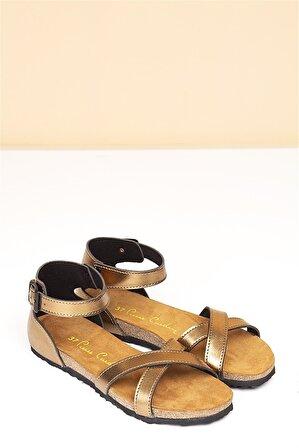 Pierre Cardin Kadın Günlük Sandalet Bronz