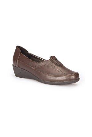 Polaris 72.158020.Z Kahverengi Kadın Comfort Ayakkabı