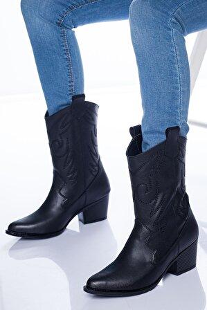 Ayakkabı Frekansı Steven Kadın Siyah Bot