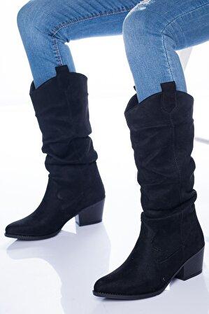 Ayakkabı Frekansı Vister Kadın Siyah Süet Bot