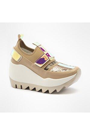 Seniorah Kadın / Kız Spor Ayakkabı 0216-s-2 Mıx Bej