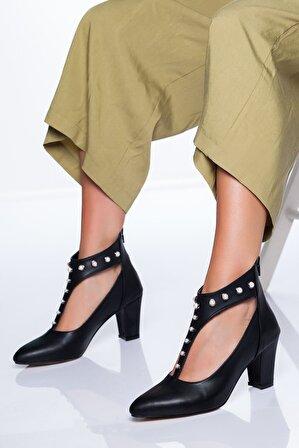 Ayakkabı Frekansı Kadın Siyah Risco Ayakkabı