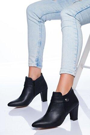 Ayakkabı Frekansı Kadın Siyah Ayakkabı Cilt Connor