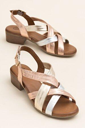 Elle Shoes XENA Metalık Kombin Kadın