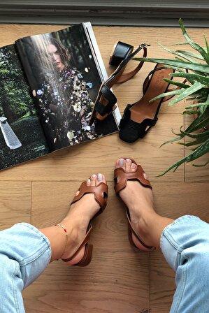 Arazshoes Sunset Taba Kadın Topuklu Sandalet