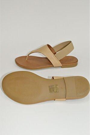 La Martin Kadın Hakiki Deri Comfort Sandalet