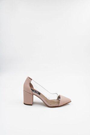 ByErz Kadın Pudra Ayakkabı