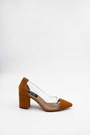 ByErz Kadın Hardal Ayakkabı