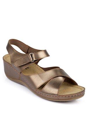 Capone Outfitters Bakır Kadın Sandalet