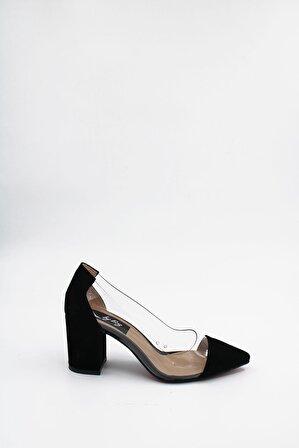 ByErz Kadın Siyah Süet Ayakkabı
