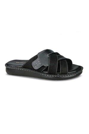 Ceyo 9968-2 Memory Foam Comfort Erkek Terlik Siyah