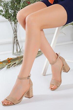 pabucmarketi Bej Süet Kadın Ayakkabı