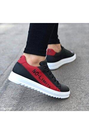 OtikButik Er0027 No Limits Siyah Kırmızı Bağcıklı Casual Erkek Spor Ayakkabı