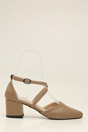 S1441 Ten Kadın Klasik Topuklu Ayakkabı