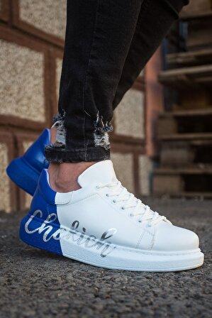 Chekich Ch254 Bt Erkek Ayakkabı 430 Beyaz / Mavi Chekıch