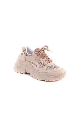 NAVYSIDE Kadın Bej Spor Ayakkabı Sneaker