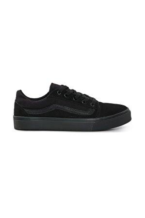 MYZENNE SHOES Unisex Kömür Siyah Vn Sneaker
