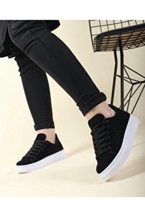 Walking Siyah Günlük Süet Kadın Sneaker
