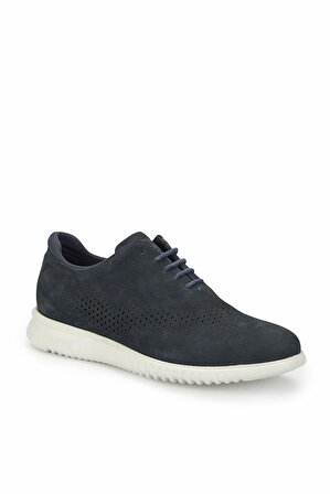 Dockers By Gerli Hakiki Deri Erkek Sneaker – 224090 Lacivert Erkek Nubuk Deri Ayakkabı-