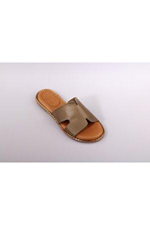 Ghench Shoes Kadın Haki Trendy Yeşil Terlik