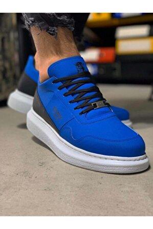 Knack Yüksek Taban Günlük Süet Ayakkabı 040 Mavi
