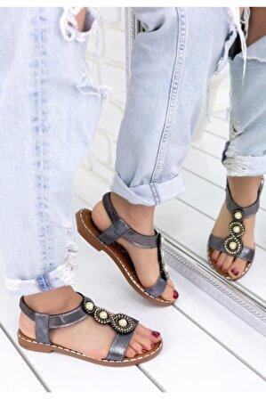 pabucmarketi Kadın Comfort Terlik Sandalet Ayakkabı Er169
