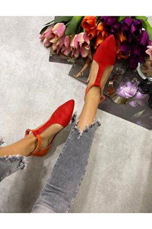 EG ayakkabı Kadın Kırmızı Bilekli Babet