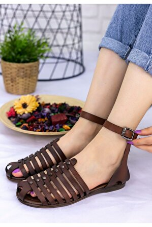 Erbilden Kendra Taba Cilt Sandalet