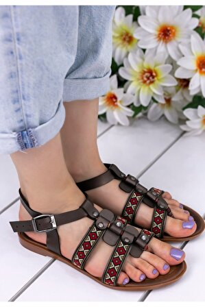 Erbilden Kadın Platin Meryy Cilt Sandalet