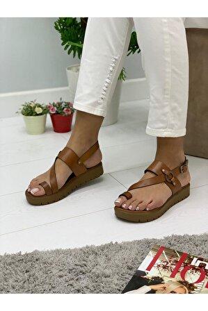 Pabuç Poril Taba Sandalet