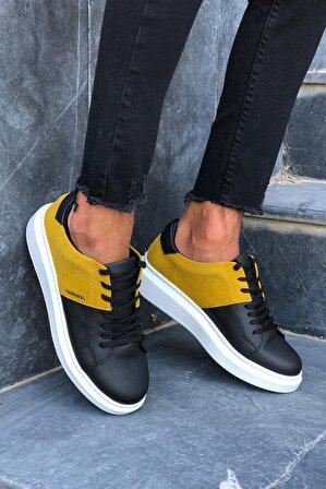 Kırmızı Ayakkabı Erkek Siyah Sarı Erkek Sneakers Hannibal Hnb101