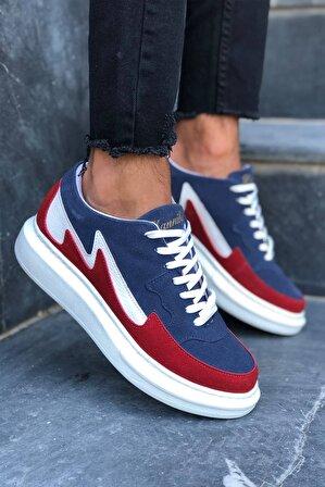 Kırmızı Ayakkabı Erkek Lacivert / Kırmızı Hannibal Hnb106 Sneakers