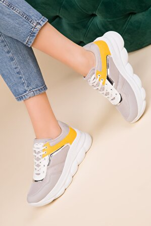 SOHO Buz-Beyaz-Sarı Kadın Sneaker