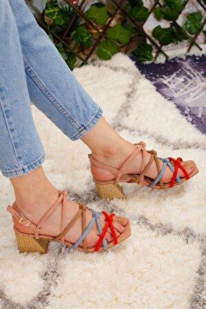 Limoya Kadın Taba Hazel Süet Alçak Topuklu Sandalet
