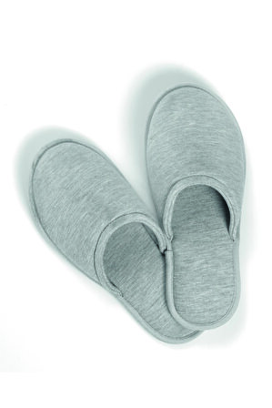 Casual Avenue Unisex Gri Relax Knitted Slippers Terlik