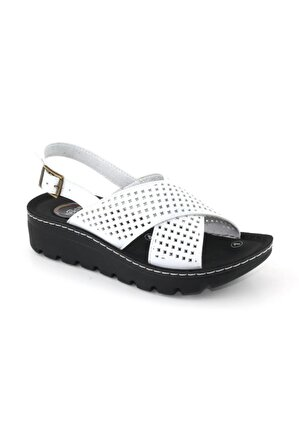 Muya Kadın Beyaz Sandalet
