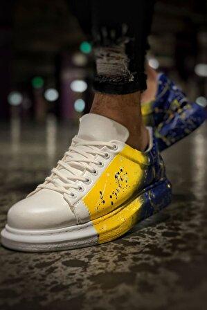 Chekich Erkek Sarı Lacivert Ayakkabı 408 P Ch254 Bt
