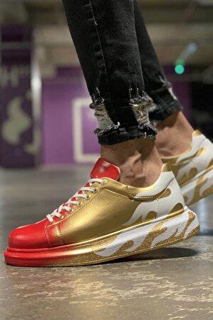 Chekich Erkek Kırmızı Altın Ayakkabı 413 Ch254 Bt