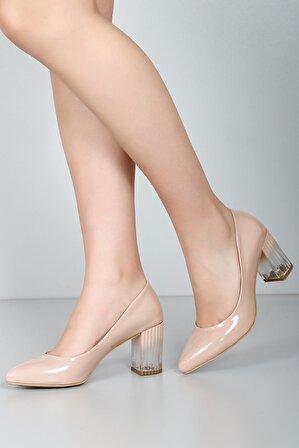G.Ö.N Kadın Bej RuganTopuklu Ayakkabı 35630