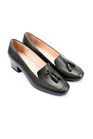 G.Ö.N Kadın Hakiki Deri Topuklu Ayakkabı 13313