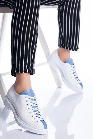 Stilbu Kadın Beyaz mavi Tamara Ayakkabı