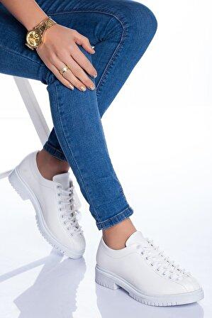 Stilbu Kadın Beyaz Cilt Tamara Ayakkabı