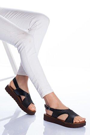 Ayakkabı Frekansı Kadın Hakiki Deri Sandalet