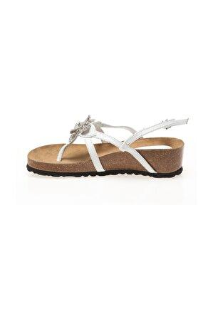 Silva Kadın Beyaz Calzaturofıcıo Sılva Sandalet A053
