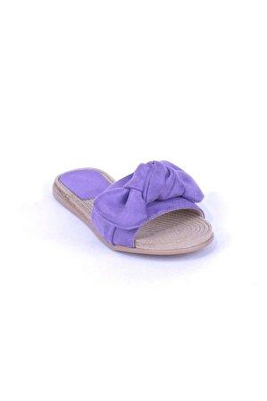 Ustalar Ayakkabı Çanta Kadın Mor Terlik 541.1020